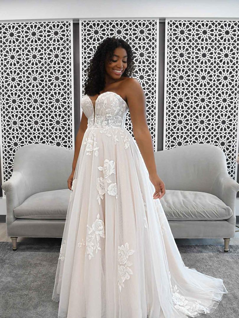 7288 Stella York | ROMANTIC STRAPLESS WEDDING DRESS WITH SPARKLE