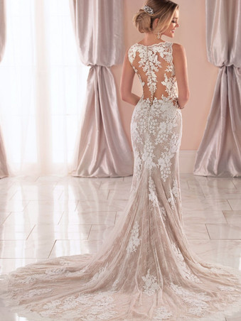 6933 by Stella York   VINTAGE WEDDING DRESS WITH UNIQUE LACE DETAILS