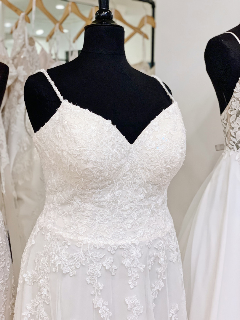 Beaded Lace Plus Size Wedding Dress