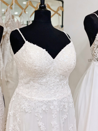 Beaded Lace Plus Size Wedding Dress