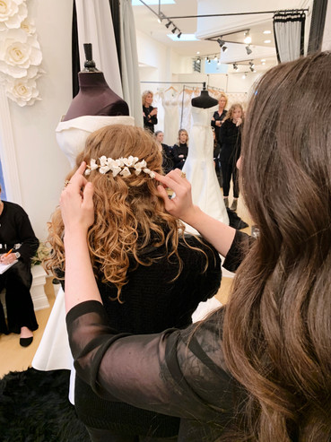 Floral headpiece for brides
