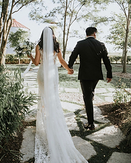 Willowby Gown and Long Veil at Rebecca's