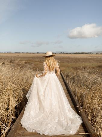D3293 Essense of Australia | Long Sleeve Lace Bridal Gown