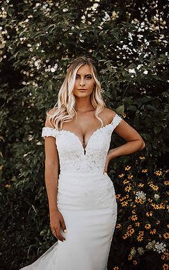 Essense D3247 | Sexy Off-Shoulder wedding dress at Rebecca's (Louisville, KY)