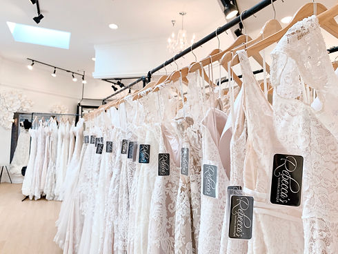 Bridal Showroom at Rebecca's Wedding Boutique in Louisville, KY | Lace Wedding Dresses