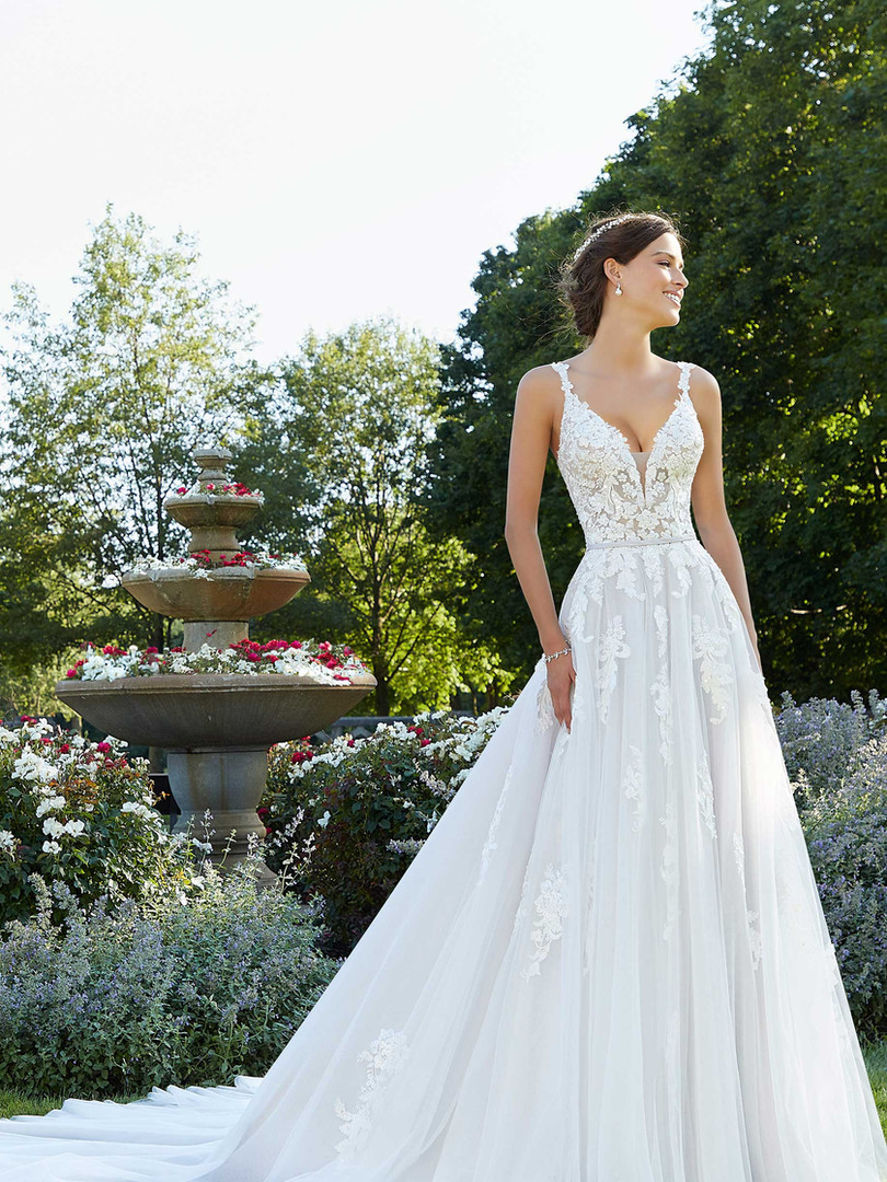 Sparrow Morilee |  Beaded Lace A-line