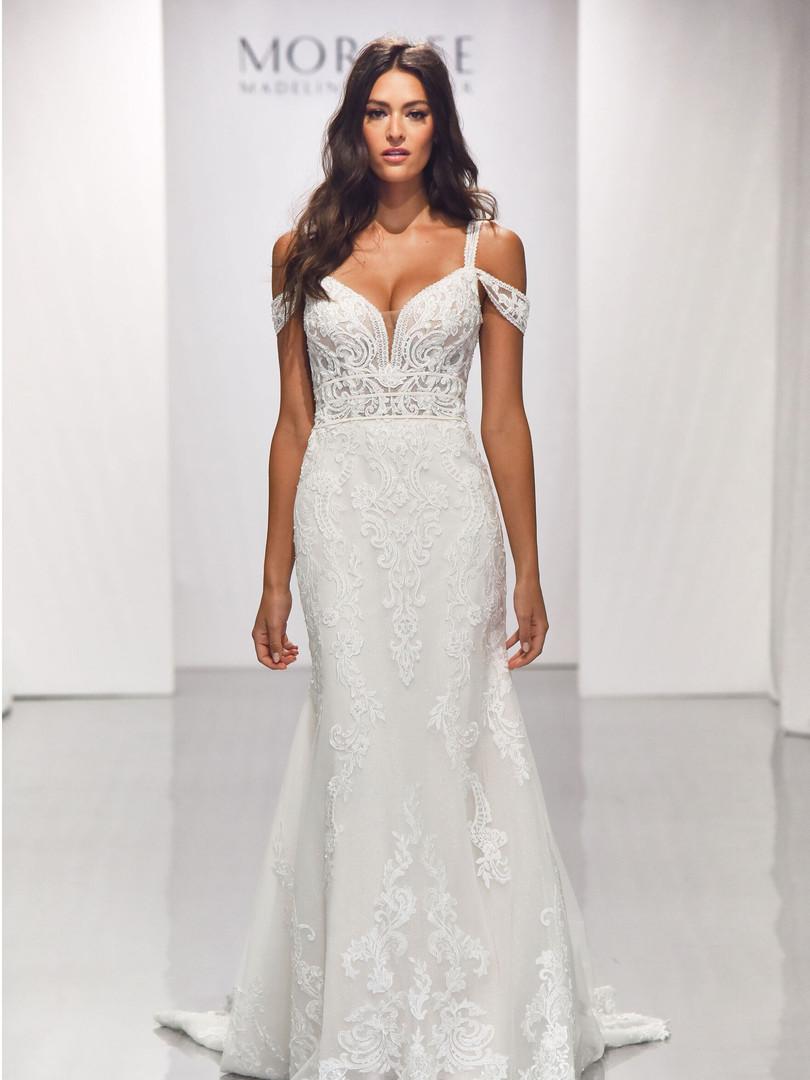 Beatrix by Morilee | Off Shoulder Boho Lace Wedding Dress