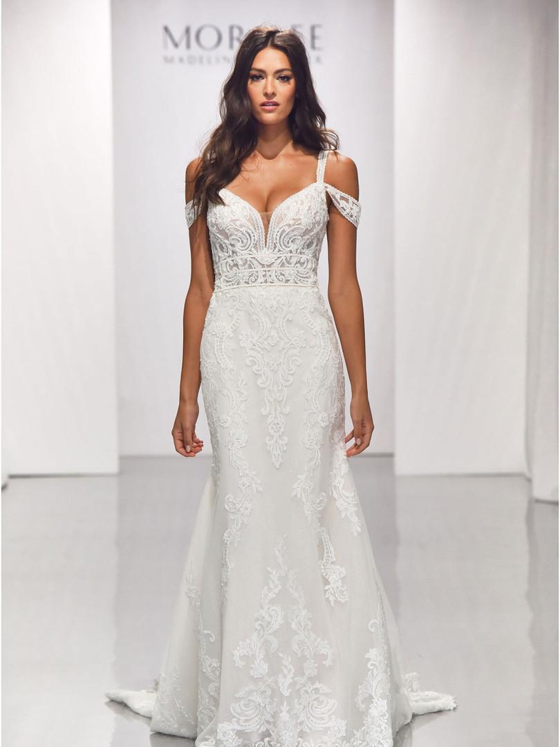 Beatrix by Morilee   Off Shoulder Boho Lace Wedding Dress