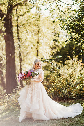 Real Bride | Essense of Australia Long Sleeve Wedding Dress |  Plus Size Bridal Gowns at Rebecca's in Louisville, KY