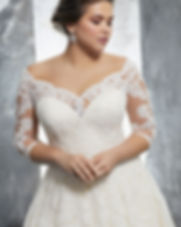 3235 Kosette by Mori Lee Lace Sleeve Plus Size Wedding Dress at Rebecca's Louisville