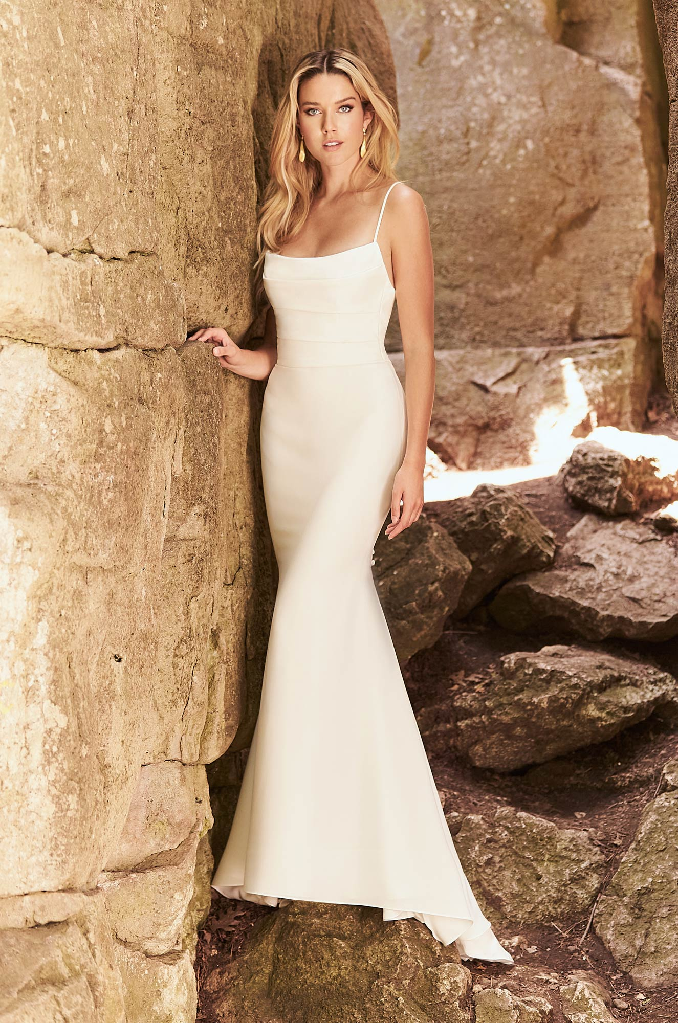 2328 by Mikaella | Sexy Simple Crepe Wedding Dress