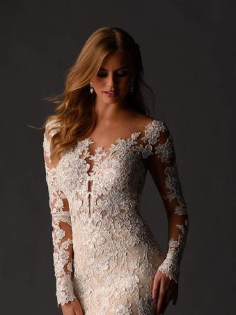 1119 Martina Liana   Sexy Long Sleeve Lace
