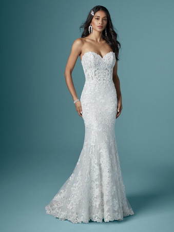 Kaysen by Maggie Sottero | Strapless Lace Wedding Dress