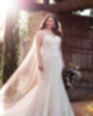 Strapless lace plus size wedding dress D2209 by Essense at Rebecca's Louisville