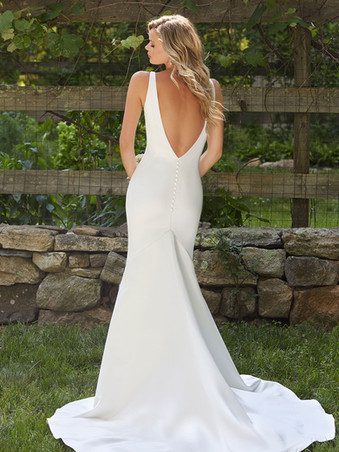 Brooklyn by Morilee   Simple Satin Fitted Low Back