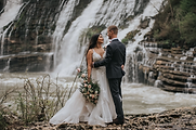 Waterfall Elopement in Nashville | Real Bride wearing Essense of Australia from Rebecca's Wedding Boutique in Louisville, KY