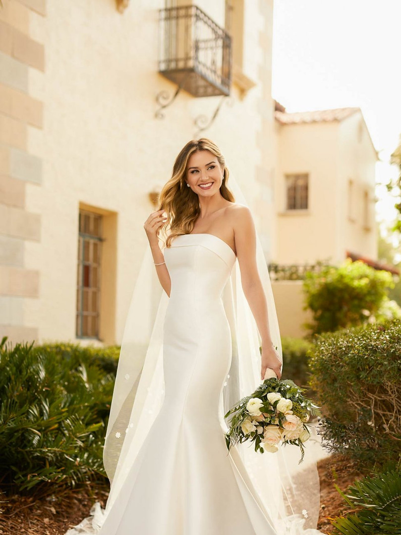 Stella York 7099 | SIMPLE MATTE MIKADO FIT-AND-FLARE WEDDING DRESS