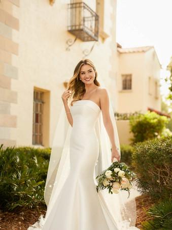 Stella York 7099 | SIMPLE MATTE MIKADO FIT-AND-FLARE WEDDING DRESS