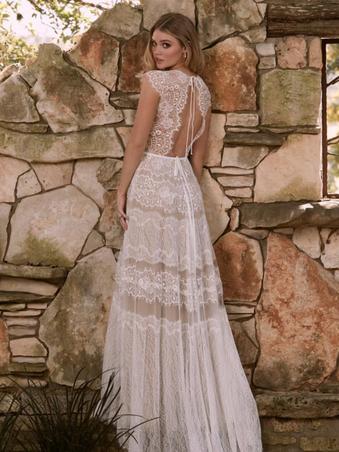 Mikaela by Willowby | Boho Lace Wedding Dress