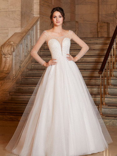 Angelina by Morilee | Beaded Princess Ballgown Wedding Dress | Rebecca's