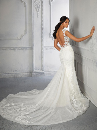 Cecilia by Morilee | Low Back Lace Wedding Dress