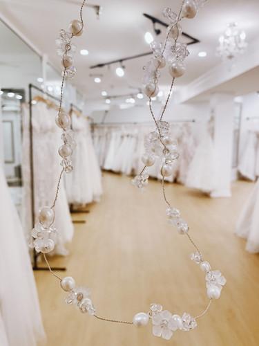 Bridal Pearl and Crystal Hair Wrap