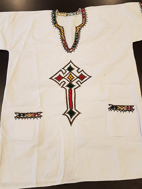 Ethiopian traditional shirt for men, size  M, made out of 100% cotton