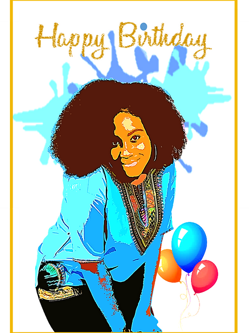 Happy Birthday Greeting Card for a Girl