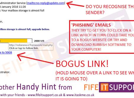 Phishing Scams - Beware!