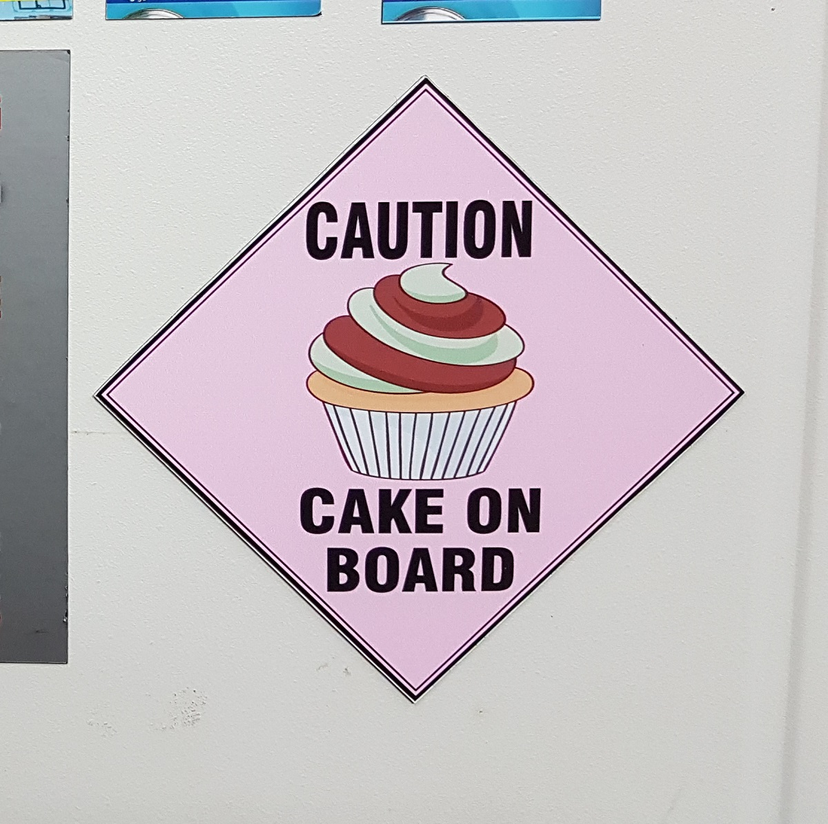 Cake Magnetic Sign Fife