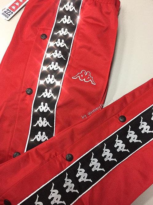 Kappa 222 Banda Popper Pants (Red)