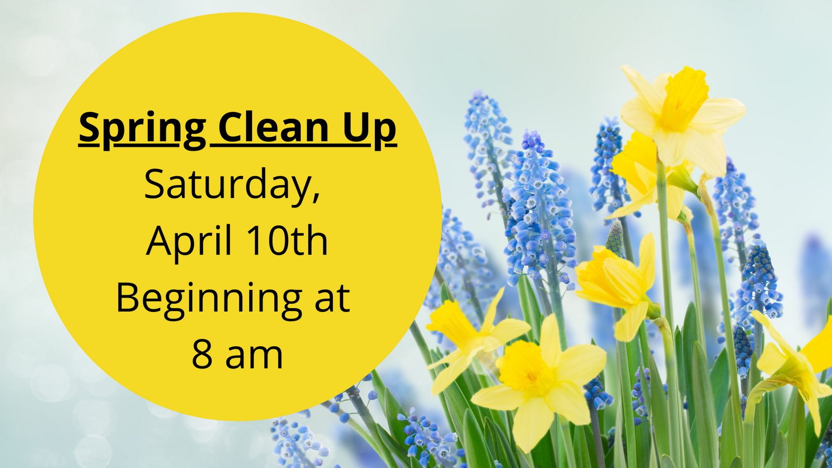 Spring Clean up on the Church Grounds