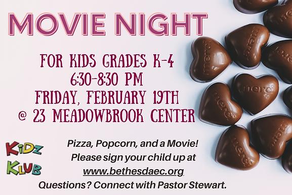 Children's Ministry Movie Night