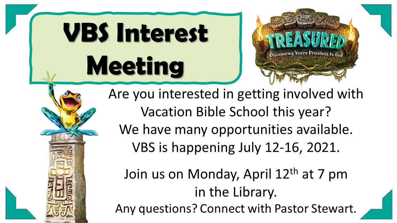 VBS Interest Meeting