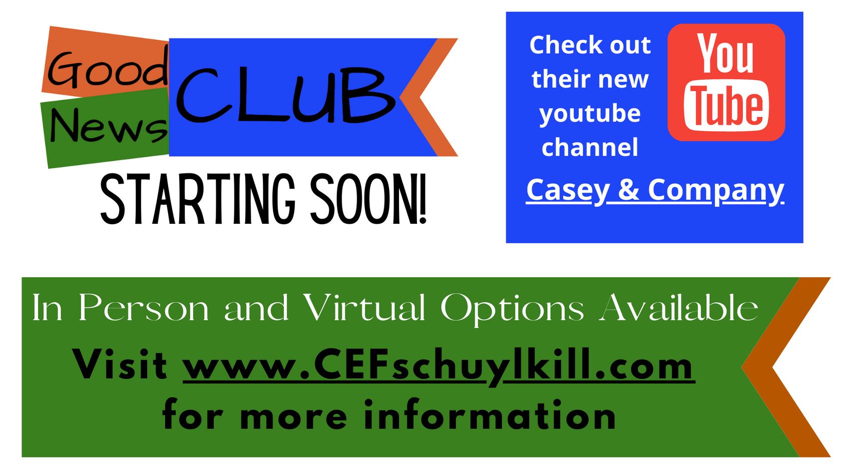 Child Evangelism Fellowship Good News Clubs!