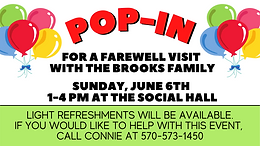 Pop-In Farewell for the Brooks Family