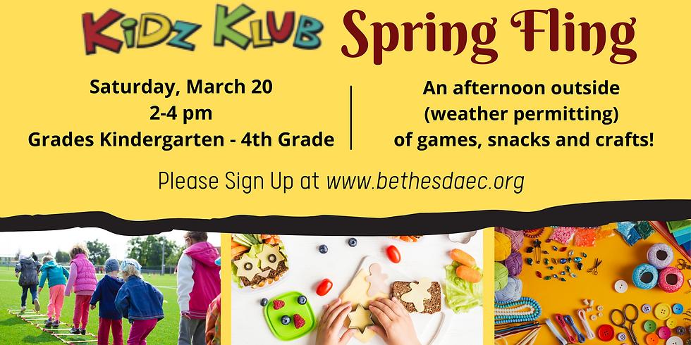 Kidz Klub Spring Fling