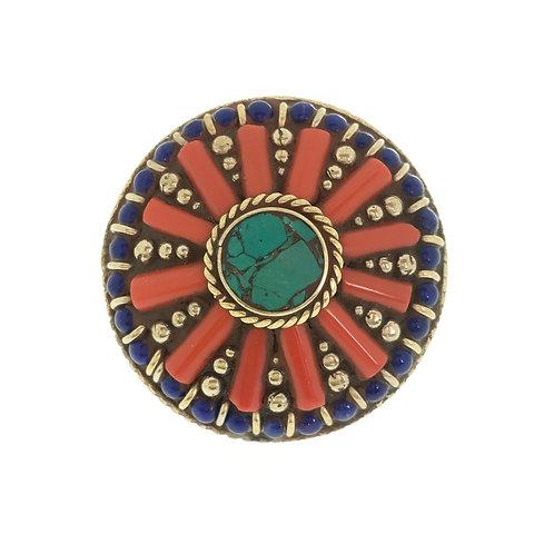 Large Round Tibetan Ring