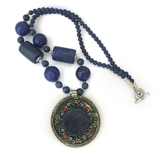 Lapis Lazuli Tribal Necklace