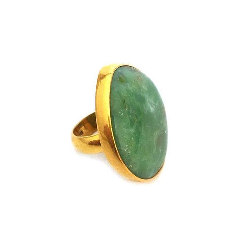 Natural Chrysoprase Ring