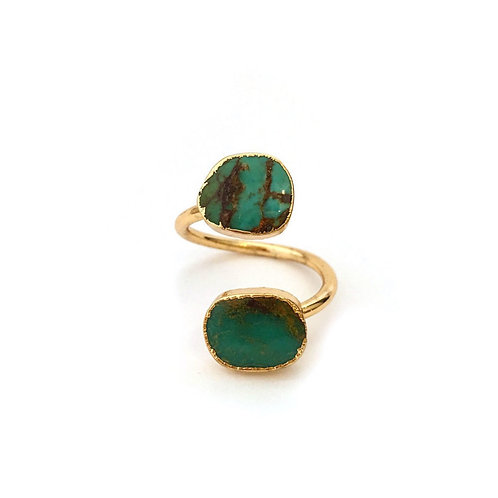 Turquoise Two Stone Ring