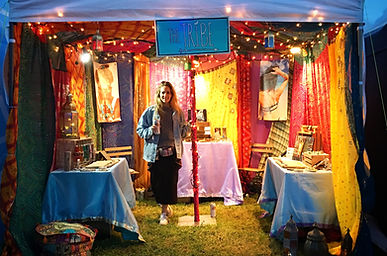 Festival stall, jewellery stall, colourful stall, The Tribe festival stall, Moroccan style