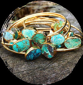 turquoise bangles,