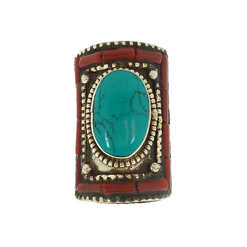 Rectangle Tibetan Ring