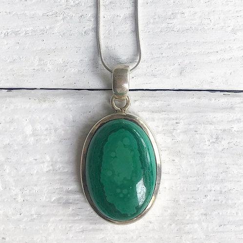 Malachite Oval Necklace