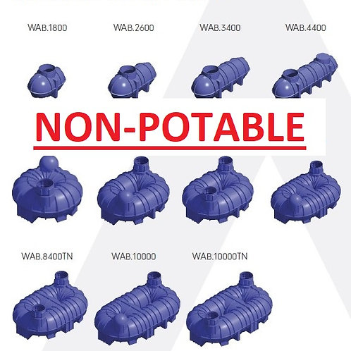 Underground Water Storage Tanks   NON-POTABLE