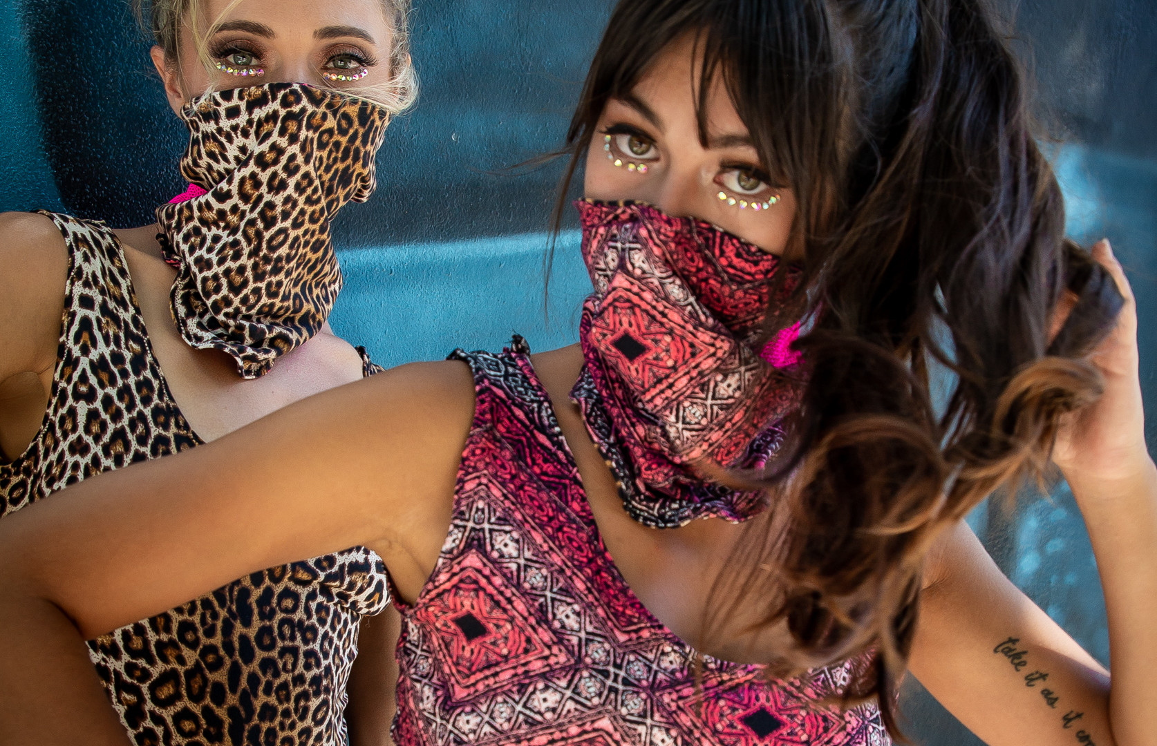 Leopard Pink Reversible Protective Face