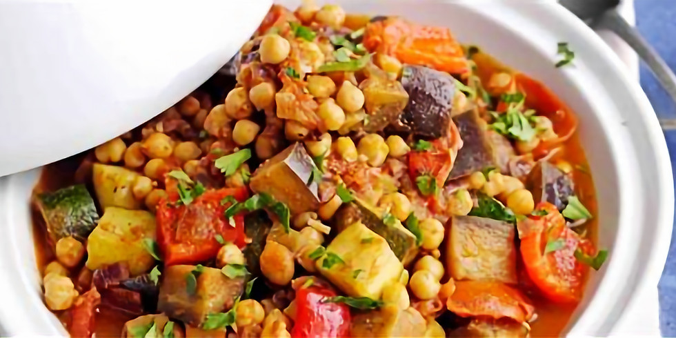 5th -6th August The Garden Kitchen Set Menu- Moroccan Aubergine apricot and chickpea tagine