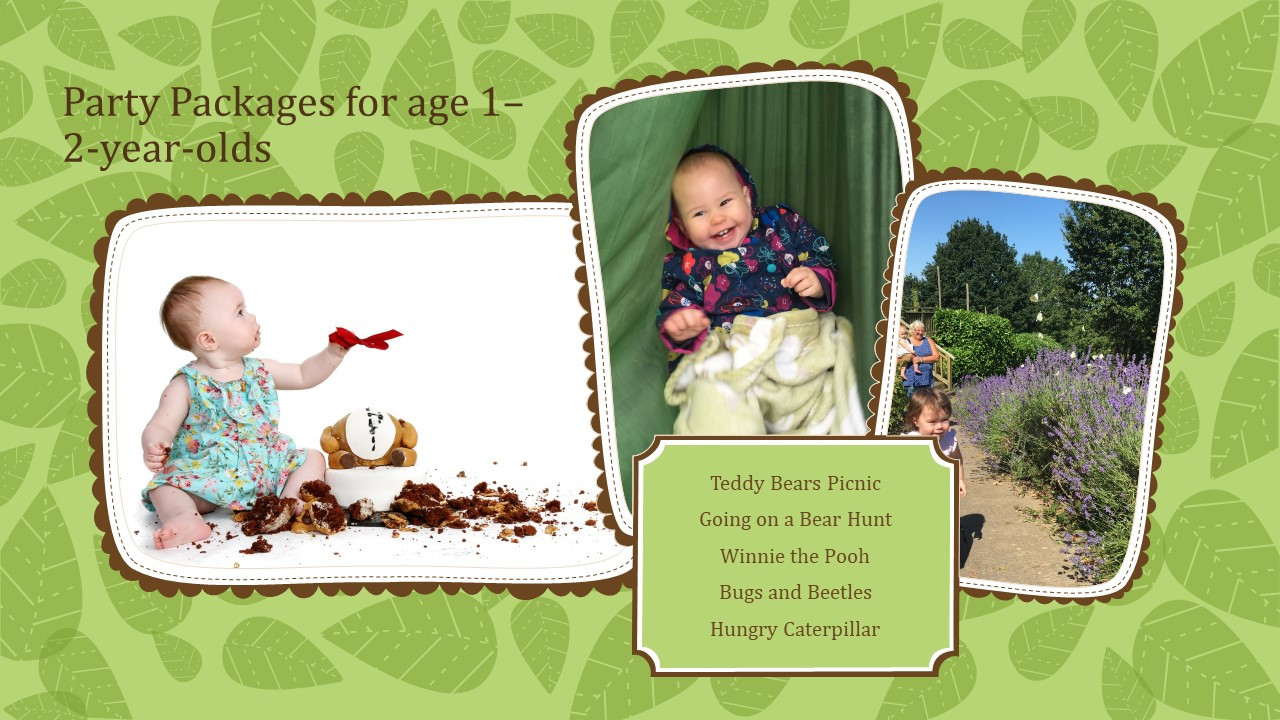 party packages from 1-2 year olds