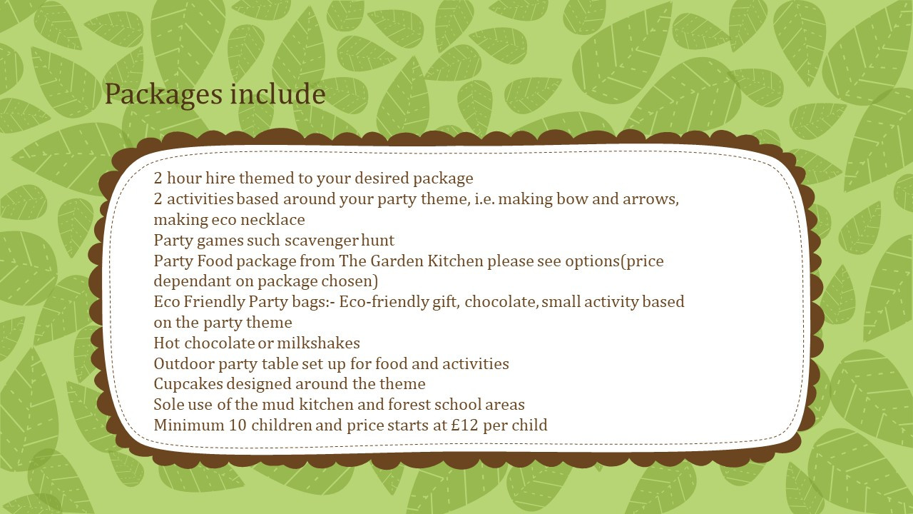 packages include